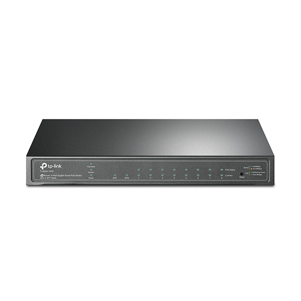 Switch Smart Gigabit PoE de 8 Puertos con 2 Ranuras SFP T1500G-10PS