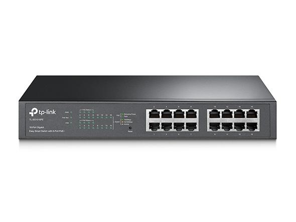 Switch Easy Smart de 16 Puertos Gigabit con 8 Puertos PoE+ TL-SG1016PE