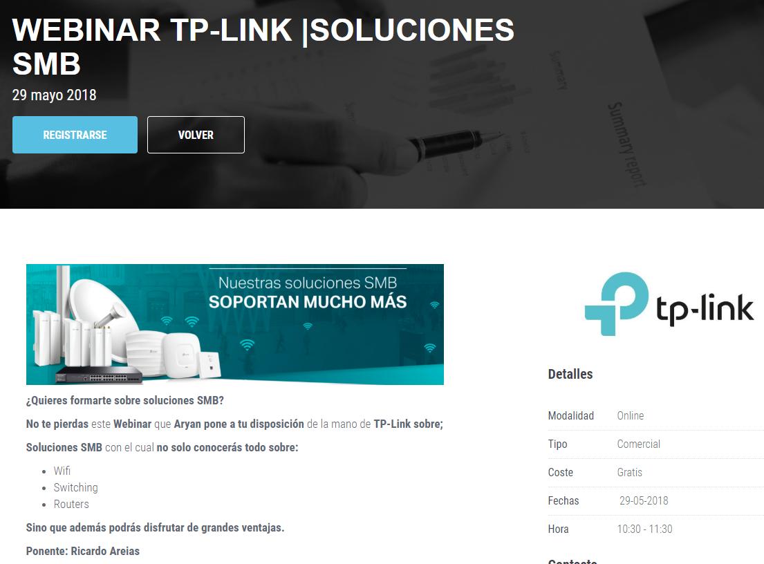 Webinar con Aryan: Soluciones WiFi SMB y cableado para CPD