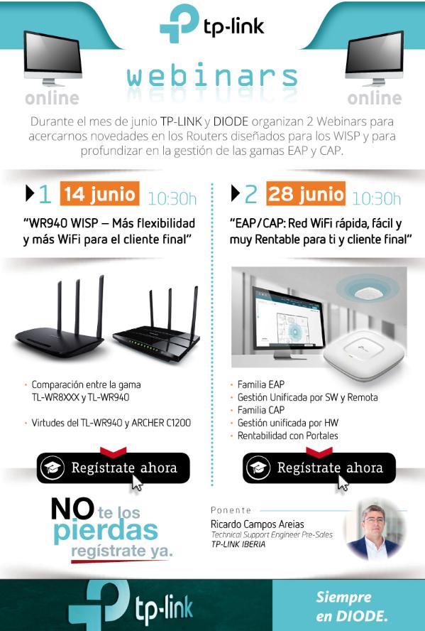 Webinar DIODE 14-06-18: WR940 WISP - Más flexibilidad y más WiFi para el cliente final
