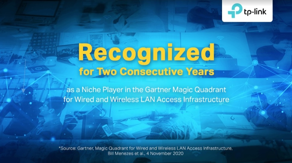 TP-Link es reconocida en el Cuadrante Mágico de Gartner para Infraestructura de Acceso LAN cableada e Inalámbrica