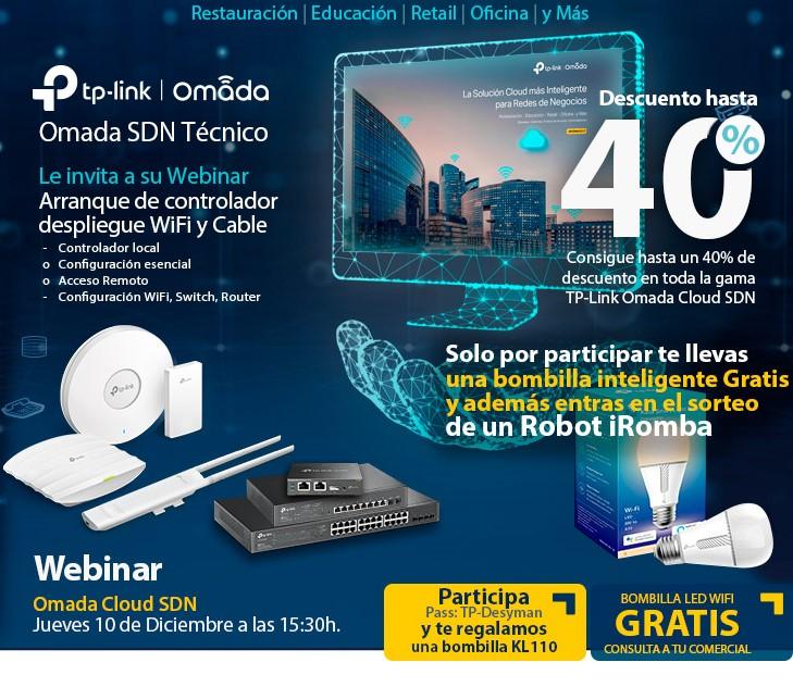 WEBINAR Omada SDN Técnico_DESYMAN_10 de diciembre a las 15:30