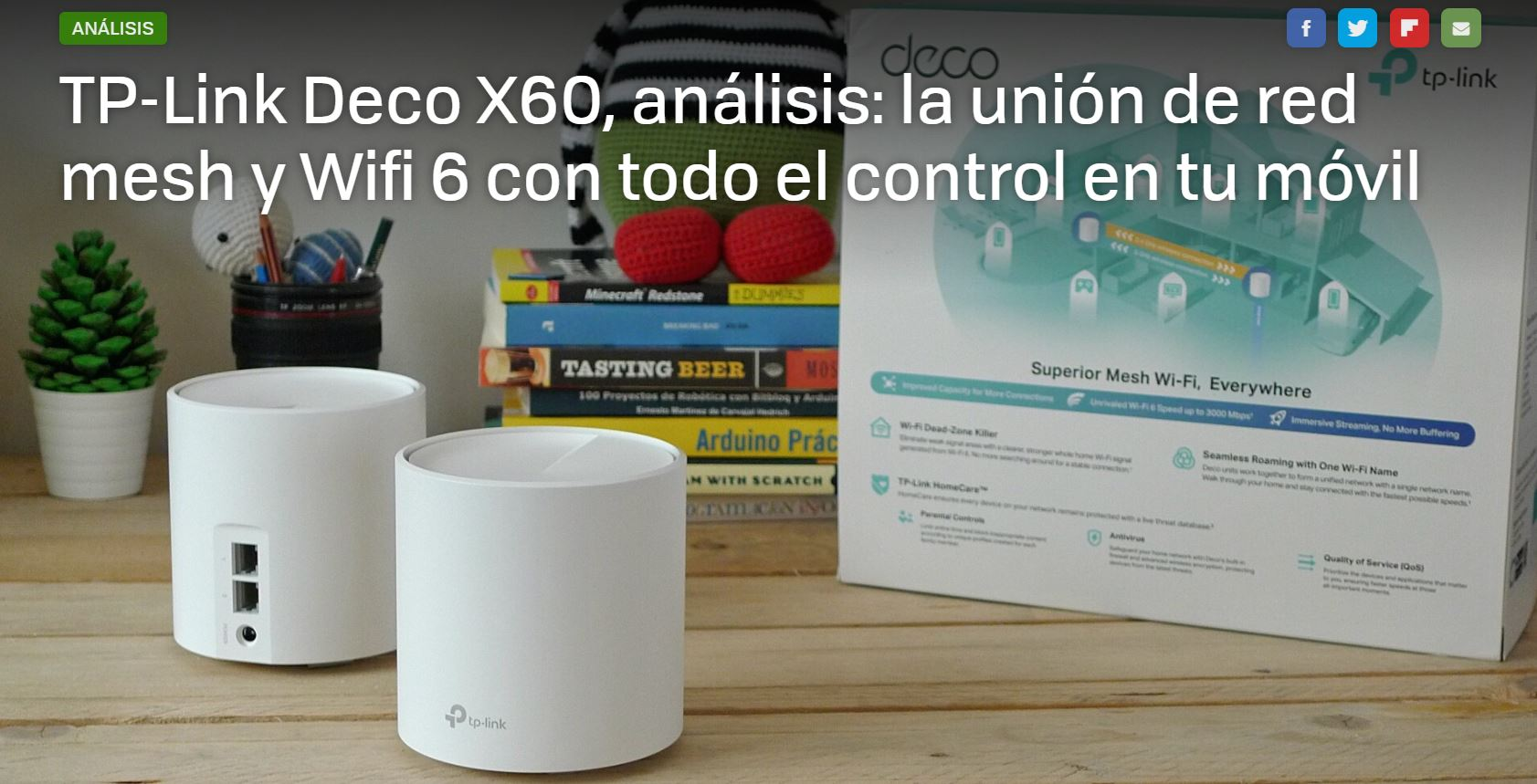 Xataka: TP-Link Deco X60, análisis: la unión de red mesh y Wifi 6 con todo el control en tu móvil