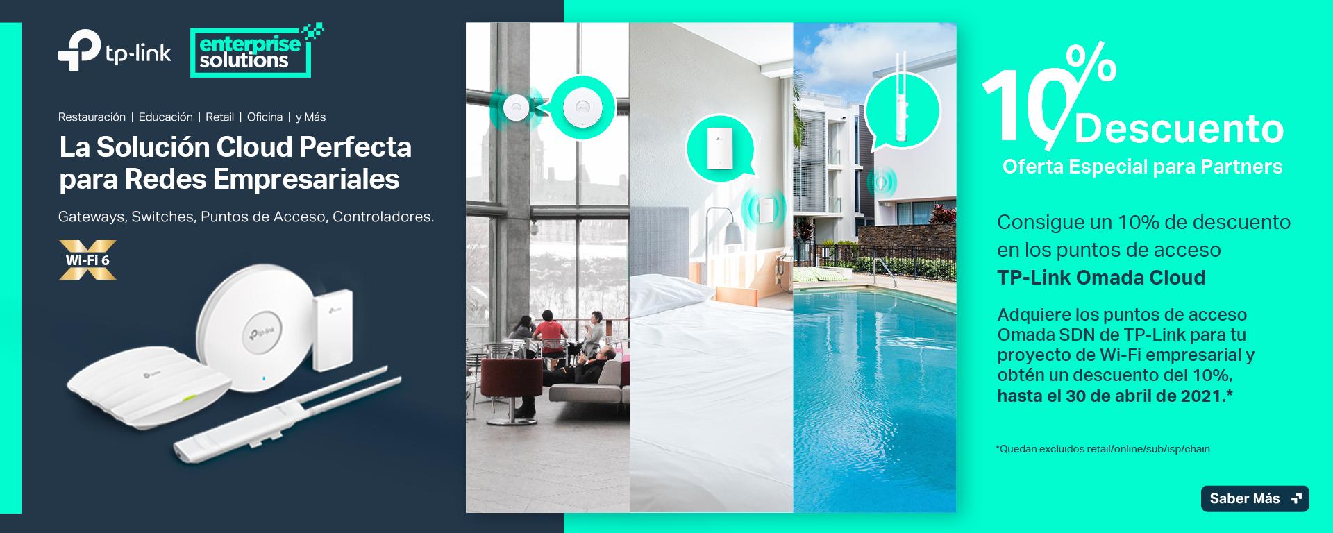 ¡Exclusivo para partners! Consigue un 10% de descuento en los puntos de acceso TP-Link Omada Cloud